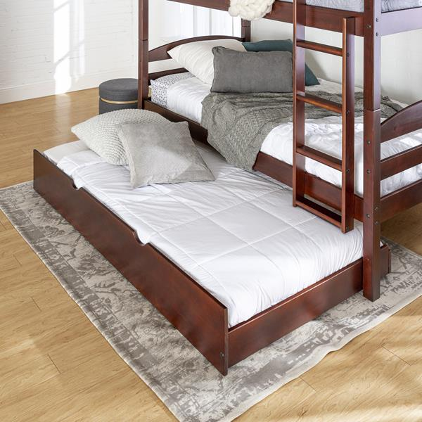 Solid Wood Trundle Bed - Espresso