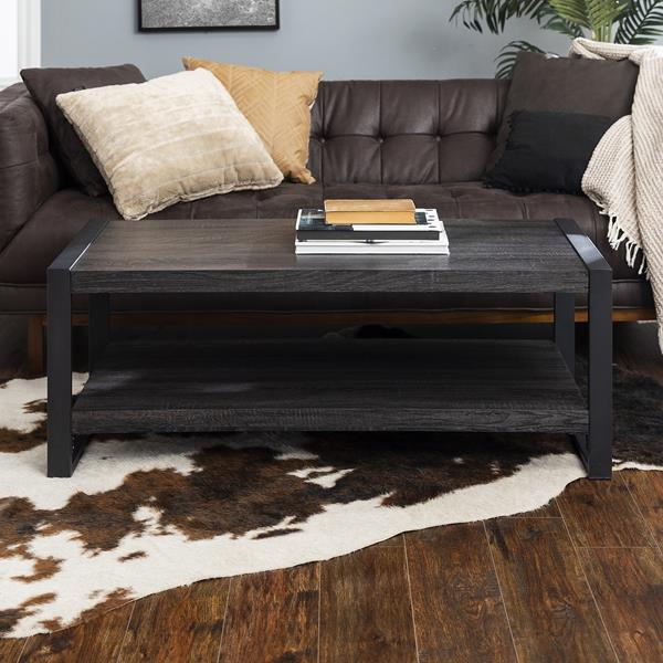 "angelo:HOME 48"" Industrial Coffee Table - Charcoal"
