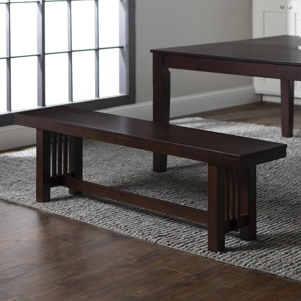 "60"" Wood Dining Bench - Cappuccino"