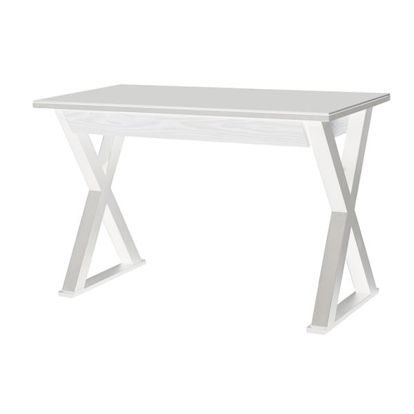 "48"" Modern Wood Computer Desk - White - Style B"