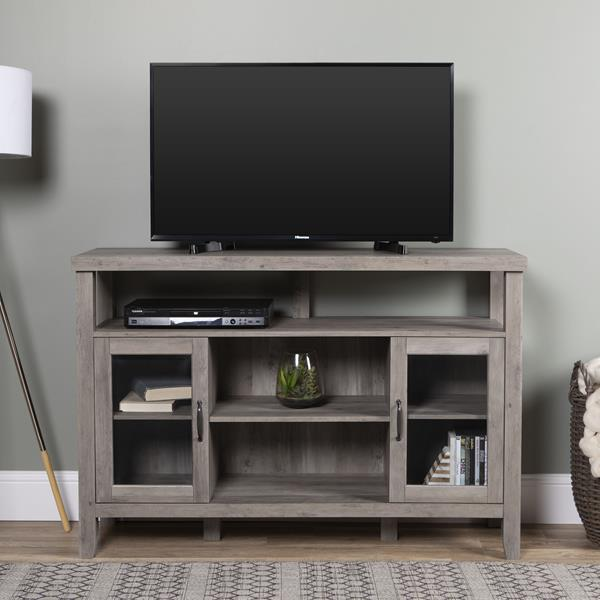 "52"" Rustic Wood TV Stand - Grey Wash"