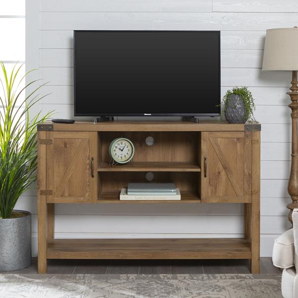 "52"" Rustic Modern Farmhouse TV Stand - Barnwood"