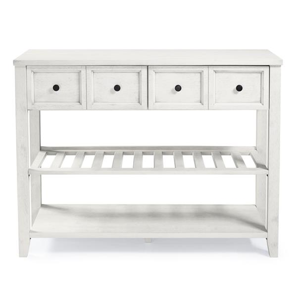 "48"" Solid Wood 2-Drawer Buffet - White"