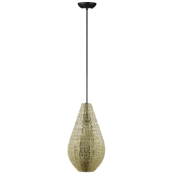 Modern Drop Style Hanging Pendant Light - Gold