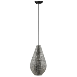 Modern Drop Style Hanging Pendant Light - Nickel