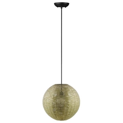 Modern Globe Hanging Pendant Light - Gold