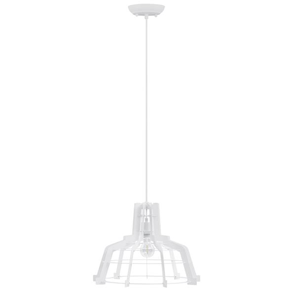 Industrial Hanging Pendant Light - White - Style A