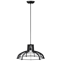 Industrial Hanging Pendant Light - Black - Style B