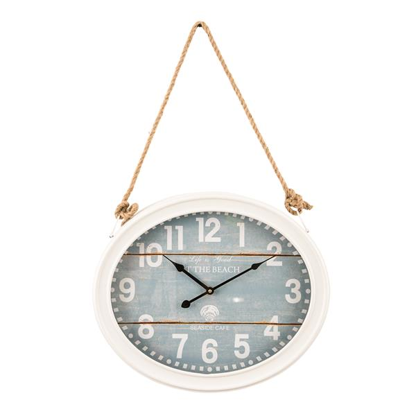 Clock on A Rope - Beach Wall Clock