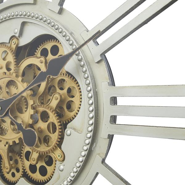 Golden Gears Square Wall Clock