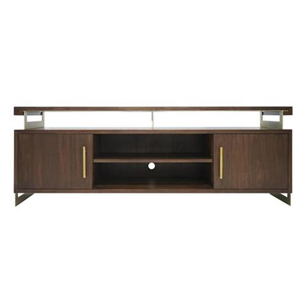 Duette Media Cabinet - Rich Nut Brown