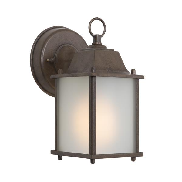 4 Fluorescent Exterior Sconce - Brown