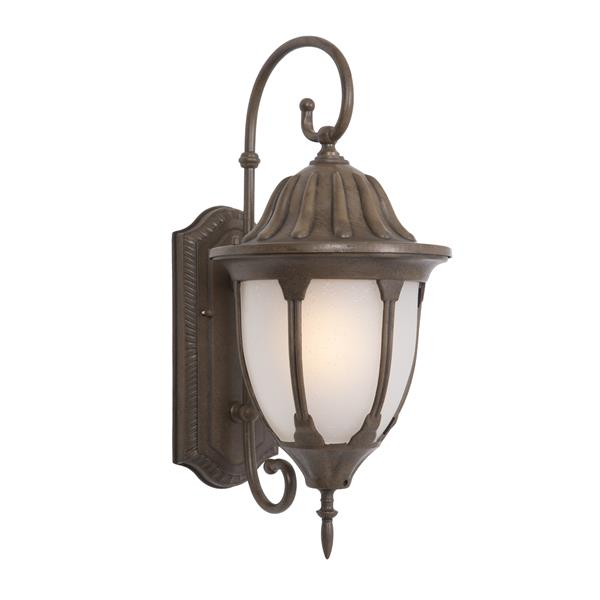 9.5 Fluorescent Exterior Sconce - Brown