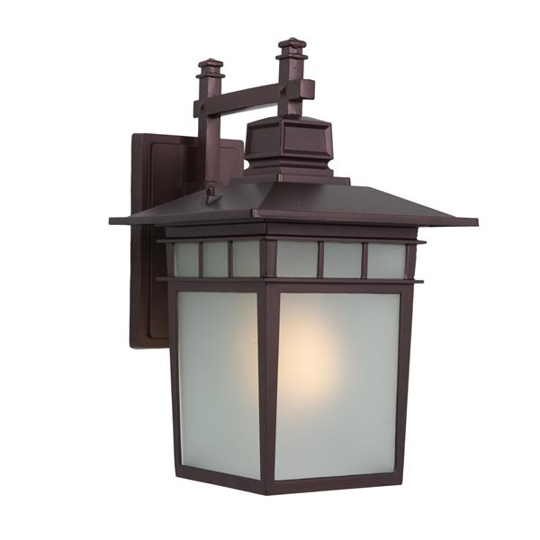 Nine Fluorescent Exterior Sconce - Oil Rubbed Bronze Finish