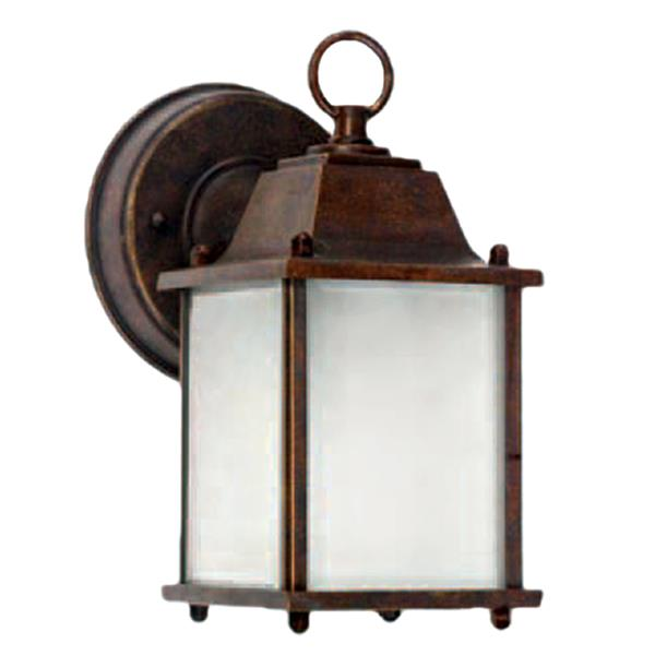 One Exterior Sconce - Brown Frame