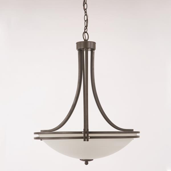 Four Light Pendant - Brown