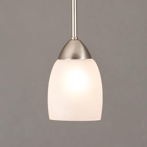 One Light Mini Pendant - Brushed Nickel