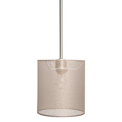 One Light Mini Pendant - Satin Steel