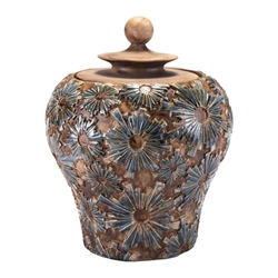 Cusco Small Temple Jar Brown