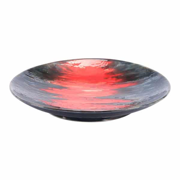 Lava Plate Black & Red