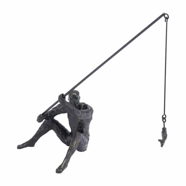 Fisherman Figurine Black