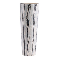 Espiga Tall Vase White & Black
