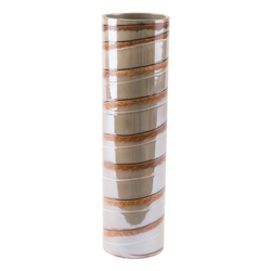 Lined Large Vase Brown
