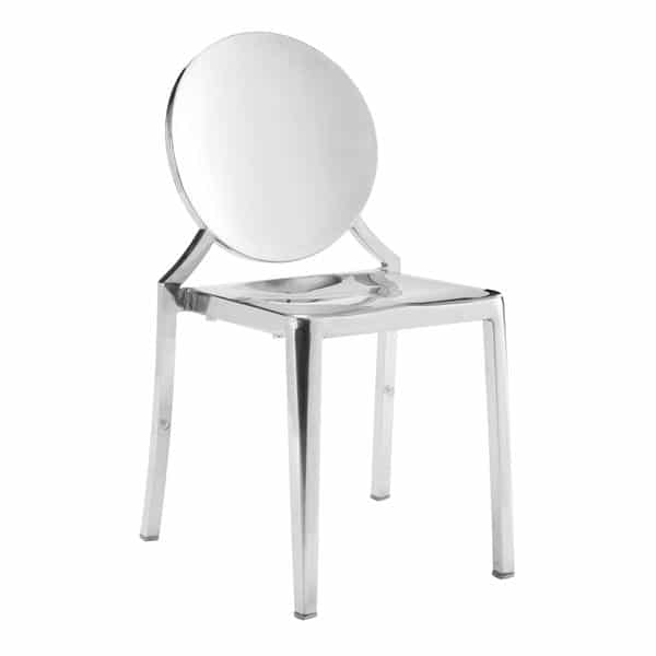 Eclipse Dining Chair in Stainless Steel