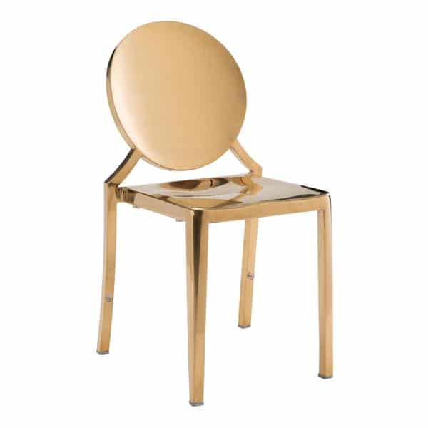 Eclipse Dining Chair Gold - Set of 2