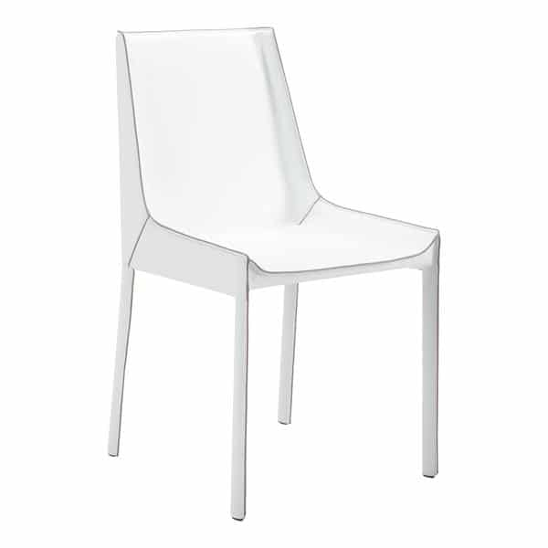 Fashion Dining Chair White - Set of 2