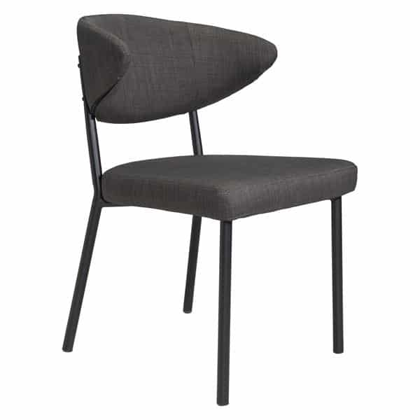 Pontus Dining Chair Charcoal Gray - Set of 2