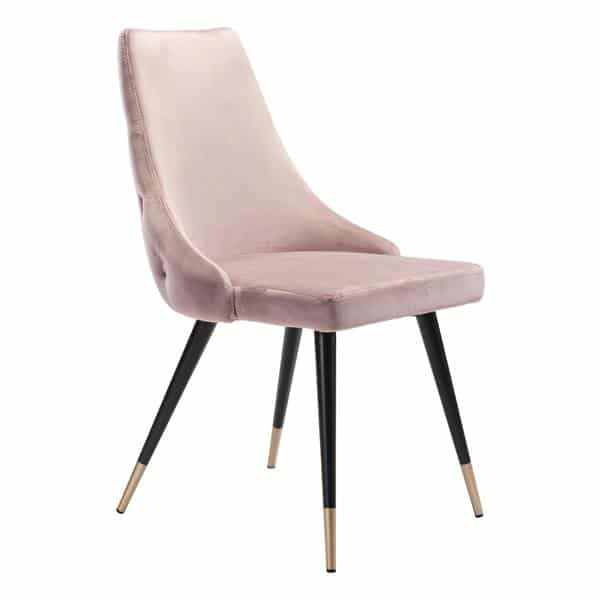 Piccolo Dining Chair Pink  Velvet - Set of 2