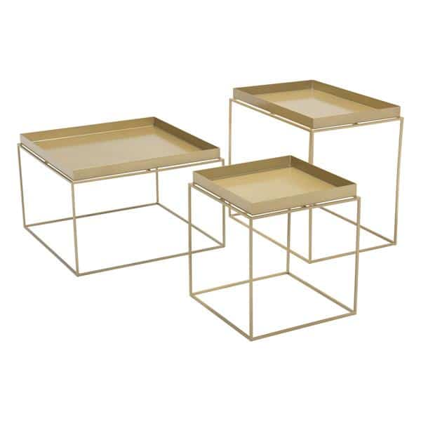 Gaia Nesting Table Gold