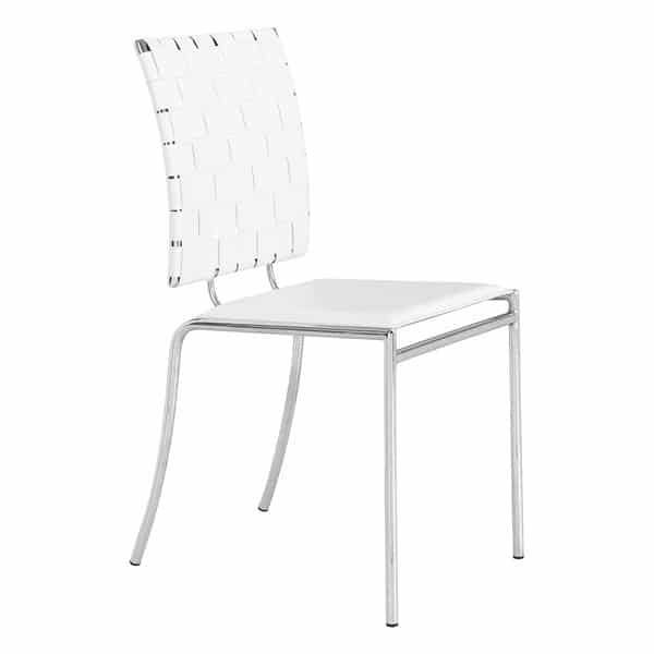 Criss Cross Dining Chair White - Set of 4