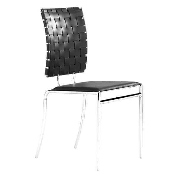 Criss Cross Dining Chair Black - Set of 4