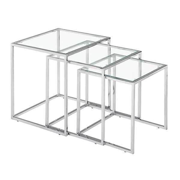 Pasos Nesting Table Clear Glass