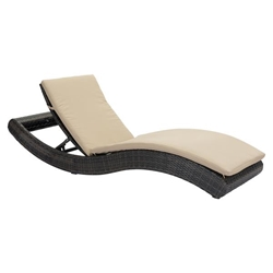 Pamelon Beach Chaise Lounge Brown & Beige